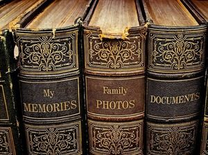 Image of old photo albums