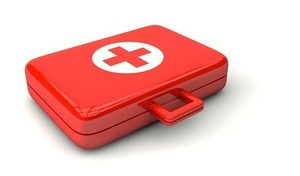 Image of red first aid kit
